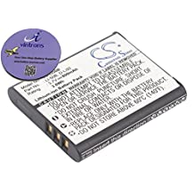 vintrons (TM) Bundle - 800mAh Replacement Battery For CASIO Exilim EX-TR10, XZ-10, + vintrons Coaster