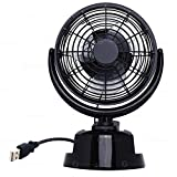 Zone Tech 12V Car and Personal Desk Auto Cooling Air Fan - Powerful Rotatable 12V Ventilation Dashboard Electric Stroller Fan operated by AA Battery or USB chord