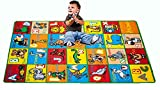 Childrens Area Rugs Kids Rug ABC Animals Area Rug 5' x 7' Children Area Rug for Playroom & Nursery - Non Skid Gel Backing (59