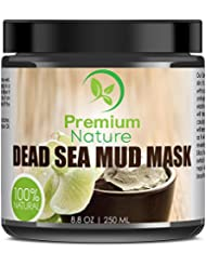 Dead Sea Mud Mask for Face and Body - 8.8 oz Melts Cellulite Treats Acne Strech Mark Removal - Deep Detox Cleaning Mask Pore Minimizer and Wrinkle Reducer - Natural Limited Edition Premium Nature