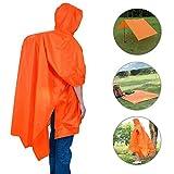 Rain Poncho,VSOAIR Multifunctional Backpack Cover Tarp Waterproof Raincoat with Hoods for Outdoor Sport