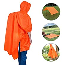Rain Poncho,VSOAIR Multifunctional Backpack Cover Tarp Waterproof Raincoat with Hoods for Outdoor Sport