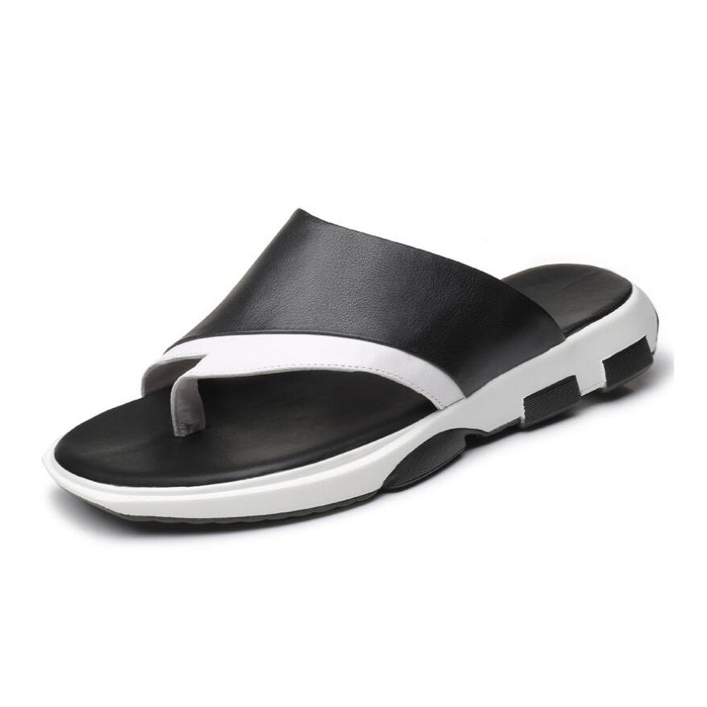 CAI Männer Strand Hausschuhe Sommer Freizeit Outdoor Rutschfeste Flip Flip Flip Flops Herren Komfort atmungsaktive Sandalen (Farbe   Schwarz, Größe   39) 2599c3