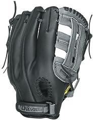 Wilson A360 Baseball Glove, Grey/Black, Right Hand Throw, 11.5-Inch