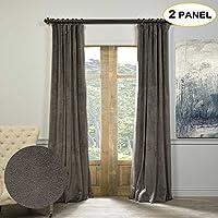 Artdix Blackout Curtains Panels Window Drapes - Gunmetal...