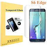 Galaxy S6 Edge Screen Protector [Full Coverage], Tempered Glass 9H 0.2mm Thinest Protection Armor Guard Shatterproof Fingerprint-free Bubble free Film for Samsung Galaxy S6 Edge (Clear)