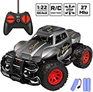 Remote Control Car Gifts for Kids - Durable Non-Slip Offroad Shockproof High Speed RC Racing Jeep (Dark Blue)