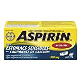 Bayer Aspirin Stomach Guard with Calcium Carbonate Extra Strength Caplet, 500 mg