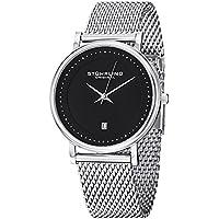 Stuhrling Original Men's 734GM.02 Ascot Casatorra Elite Swiss Quartz Date Stainless Steel Mesh Bracelet Watch