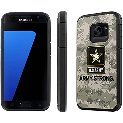 Galaxy [S7] [5.1 Screen] Defender Hybrid Case [SlickCandy] [Black/Black] Dual Layer Protection [Kick Stand] [Shock Proof] Phone Case - [Army Strong Camo] for Sales