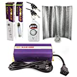 Apollo Horticulture GLK400GW19 400 Watt Grow Light Digital Dimmable HPS MH System for Plants Gull Wing Hood Set