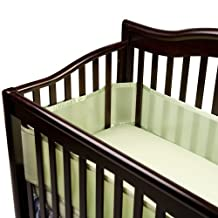 BreathableBaby Breathable Mesh Crib Liner, Fits All Cribs, Sage (Discontinued by Manufacturer)
