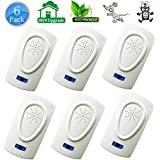HQTech Ultrasonic Pest Repeller Repellent Plug in Indoor-2019 Electronic Ultrasonic Bug&Mosquito Repellent Pest Control for Roach, Spider, Ant, Rodent,Bedbugs, Fly, No Trap, Sprayer,Baits&Poison …