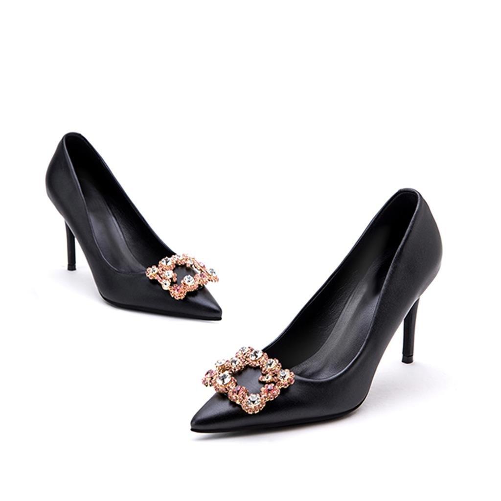 Hyun Times Extremidad Extremidad Extremidad de La extremidad con Los Zapatos Negros 9.5cm de Los Altos Talones 4cb370