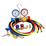 vismile 4-Way AC Diagnostic Manifold Gauge Set Ideal in Black Box for R410a R22 R134a HVAC