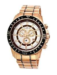 Porsamo Bleu Grand Prix Noir Stainless Steel Rose Tone, Gunmetal, Black & Brown Men's Diamond Watch 093CGPS