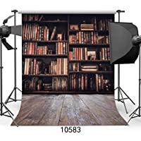 SJOLOON 10X10ft Bookshelf Theme Photo Backdrop Studio Photography Background Books Students Scene Studio Props 10583