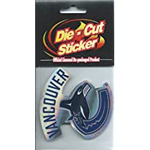 """(HCW) Vancouver Canucks NHL Official Licensed Die-Cut Shiny Sticker Decal 3""""x3"""""""