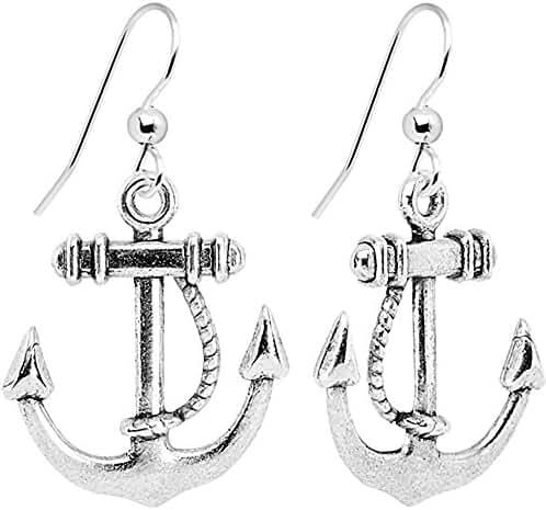 Body Candy Nautical Anchor Dangle Earrings