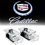 Aukur 2 Pcs Wireless Car Door Led Welcome Projector Logo Light Ghost Light Shadow Light for CADILLAC