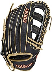 """Wilson 2021 A2000 SuperSkin 1800 (Outfield) - Left Hand Throw,12.75"""""""",Black, Yellow, WBW1001031"""