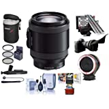 Sony PZ 18-200mm F3.5-6.3 OSS Alpha E-Mount NEX Camera Lens Black - Bundle with LensAlign MkII Focus Calibration System Peak Lens Changing Kit Adapter Flex Lens Shade 67mm Filter Kit and More