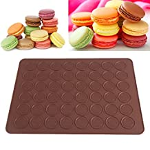 Delaman 48 Cacity Macaron Silicone Mat Baking Mold Nonstick Pastry Sheet Decorating Cake Cookie DIY Mould