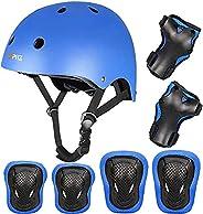 PHZ. Kids Bike Helmet Toddler Helmet 3-14 Years Sport Protective Gear Set Boy Girl Adjustable Child Cycling He