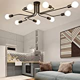 Industrial Edison 8 Lights Semi Flush Ceiling Light