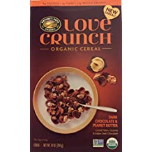 Nature's Path Love Crunch Organic Cereal Dark Chocolate and Peanut Butter 10oz (pack of 2)