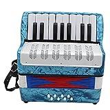 EDTara Accordion,17-Key 8 Bass Mini Accordion Educational Musical Instrument for Children Adult Amateur Beginner Gift
