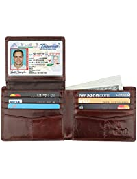 Wallet for Men-Genuine Leather RFID Blocking Bifold...