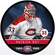 Inglasco Patrick Roy (Montreal Canadiens) Photo Hockey Puck
