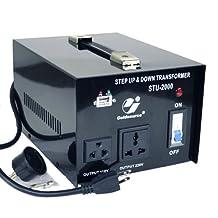Goldsource® STU-2000 Step Up/Down Voltage Transformer Converter - AC 110/220 V - 2000 Watt