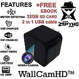 ZspyHD WallCamHD Hidden Nanny Camera Night Vision WiFi IP cam