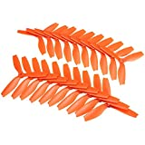 BangBang 10 Pairs Racerstar R5040X3 5040 3 Blade Propeller 5.0mm Mounting Hole For 2204 2206 Motor FPV Frame (10 Pairs: Color Orange)