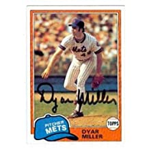 Dyar Miller autographed baseball card (New York Mets) 1981 Topps #472 - Autographed Baseball Cards