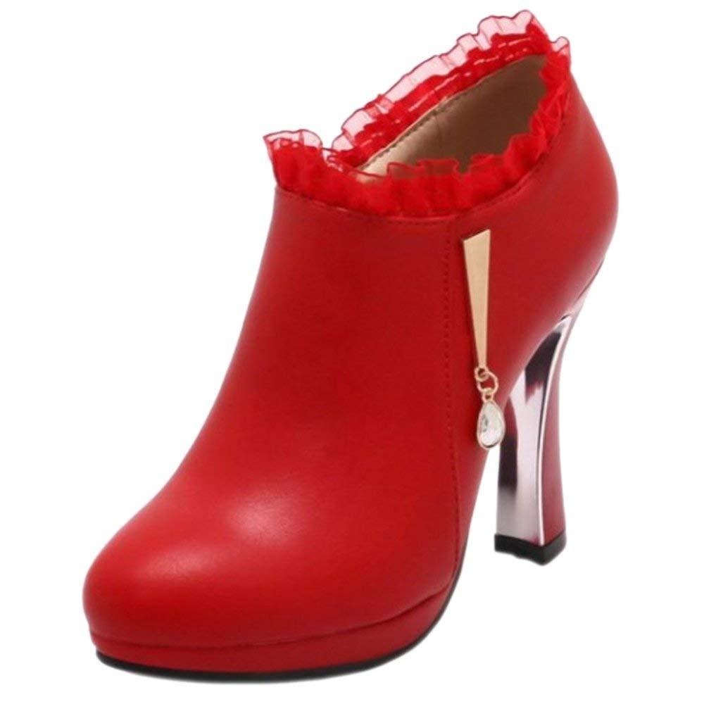 ZHRUI Damen High High High Heel Kurze Stiefel 800b33