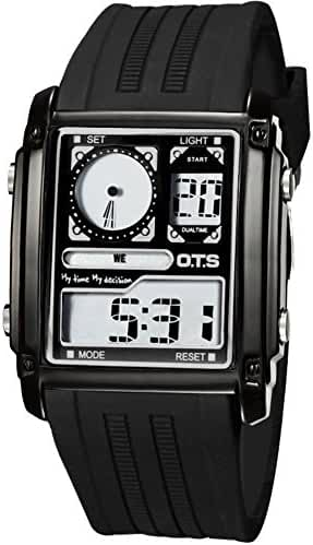 Boys sports watch/Luminous waterproof multifunctional electronic watches-B