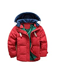 WEONEDREAM Children Boys Winter Duck Down Coats Kids Cotton Jackets Hooded