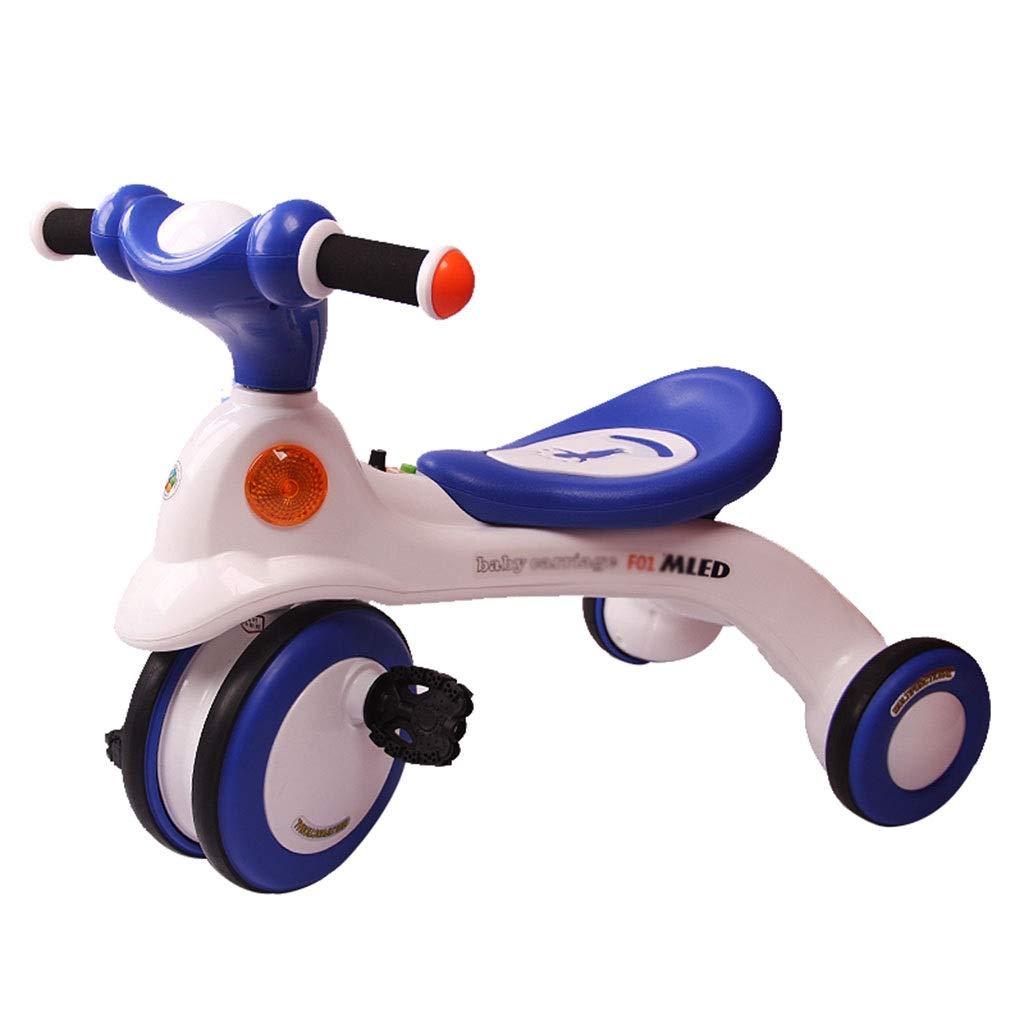 Xing Hua Home Kinder-Dreirad 1-2-3-6 Jahre Altes Kinderfahrrad Fahrradfahrrad Für Kinder Im Freien Einklemmschutz Traglast 25kg (Farbe   Blau, Größe   65  39.5  49.5cm) Blau 6539.549.5cm