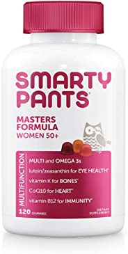 SmartyPants Women's Masters 50+ Vitamin: Vitamin C, D3 & Zinc for Immunity, Gluten Free, Multivitamin, Lutein/Zeaxanthin for