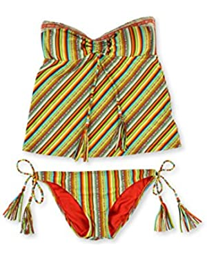 Womens Santiago Shirred 2 Piece Tankini!