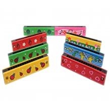 Cute Lightweight Wooden Musical Instruments Wood Melodica Harmonica Toys For Kids