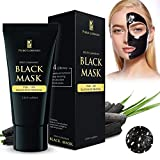 Blackhead Remover Black Mask Cleaner - Purifying Quality Mask Best Mud Facial Mask Bamboo Charcoal Deep Cleansing Purifying Acne Blackhead Peel-off Mask 60g