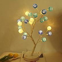 Hongxin LED Fairy Lights 24 Cherry Balls LED Christmas Tree Lights Luces Navidad Decorativas Wedding Decoration Lights Luzes Para Festa Desk Decor Creative Gift (Blue)