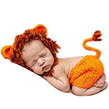 Newborn Baby Crochet Knitted Photo Photography Props Handmade Baby Hat Diaper Outfit