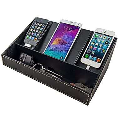 Stock Your Home Electronics Charging Station Uses Include Electronics Organizer, Charging Dock, Phone Charging Station Organizer & Phone Charging Station Organizer- Black