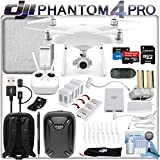 DJI Phantom 4 Pro Drone w/ FLY MORE Combo: Includes High Capacity Intelligent Flight Battery, 2 Spare Phantom 4 Batteries, Pro Series Shockproof Backpack, 64GB MicroSD Card and more...