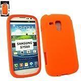 Emartbuy® Samsung Galaxy Ace 2 X S7560 Silicon Skin Cover/Case Orange